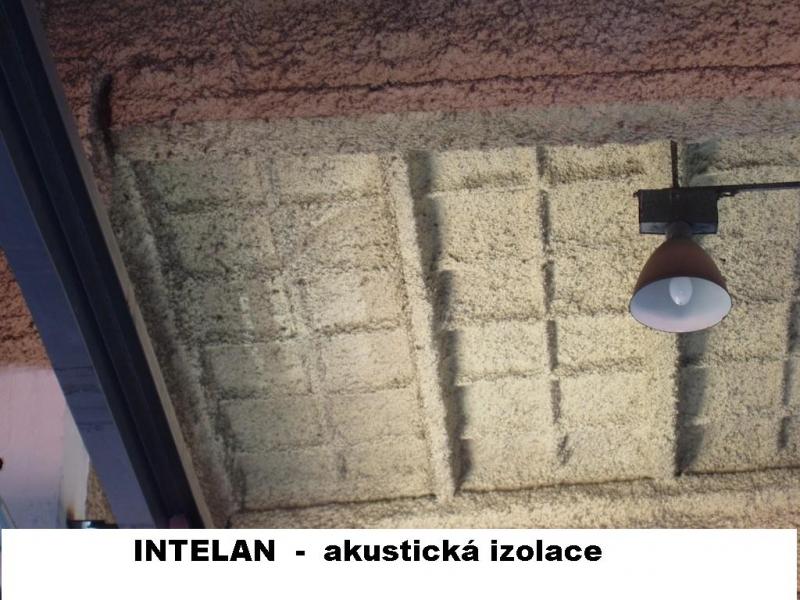 Nástřik akustické izolace INTELAN
