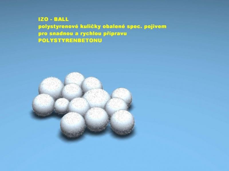 IZO-BALL příměs do lehčeného a tepelně izolačního betonu